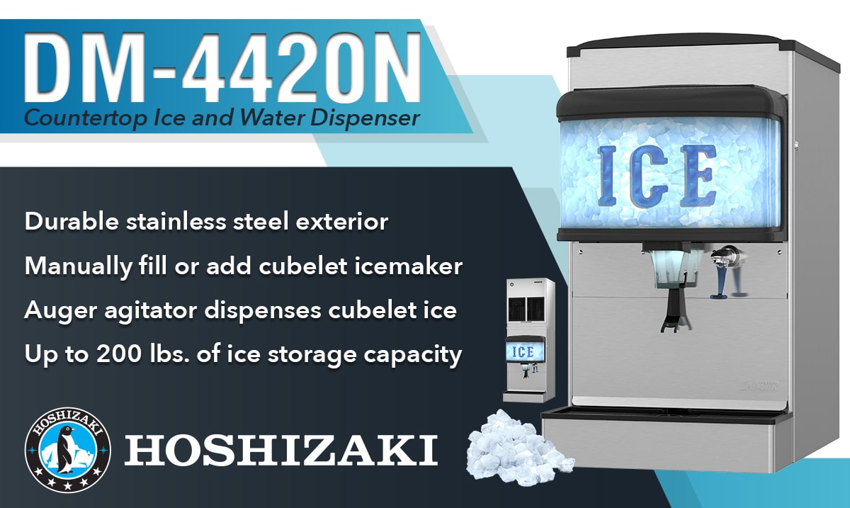 HOSHIZAKI's KMEdge design comes to the KM-1900S_J(3) stackable icemaker.