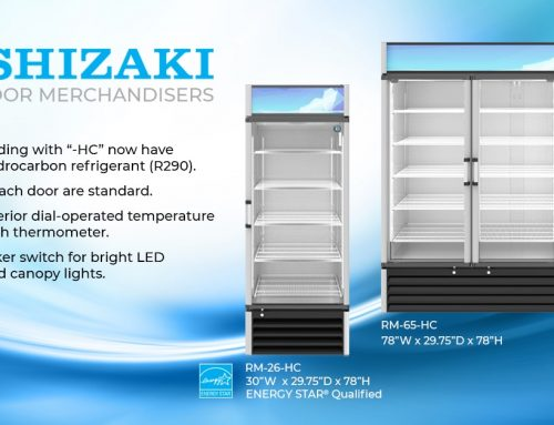 Hoshizaki Enhances Glass Door Merchandiser and Adds a 3 Door to the Lineup