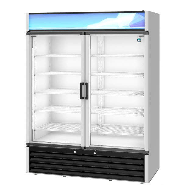 Two Section Glass Door Merchandiser