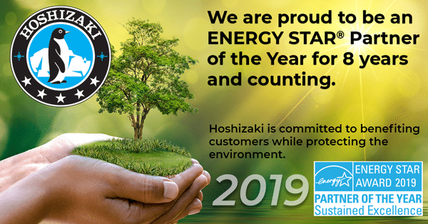 Hoshizaki America, Inc. Earns 2019 ENERGY STAR® Partner of the Year – Sustained Excellence Award