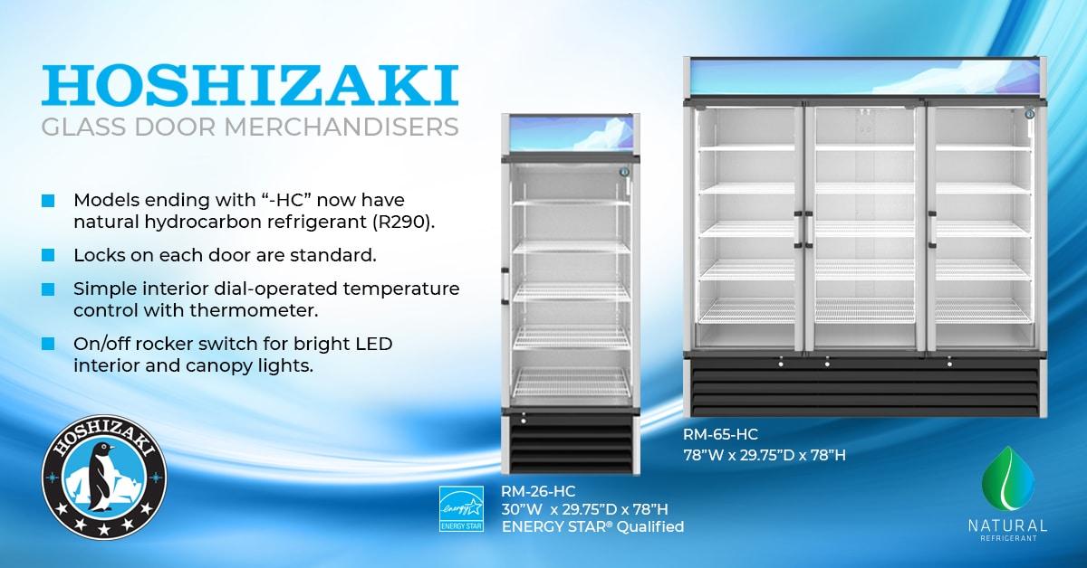 Hoshizaki Enhances Glass Door Merchandiser and Adds a 3 Door to the Lineup
